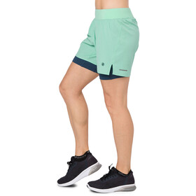 asics 2-N-1 5.5In Shorts Women Opal Green Heather